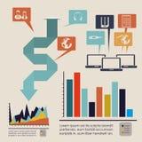 Barre di Infographics royalty illustrazione gratis