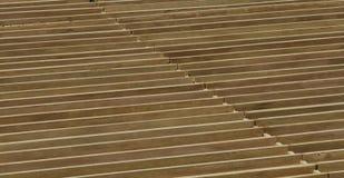 Barre di legno parallele Fotografia Stock
