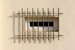 Barre di obbligazione sulla finestra Fotografia Stock Libera da Diritti