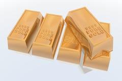 Barre di oro Fotografie Stock Libere da Diritti