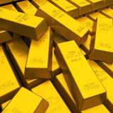 Barre di oro Immagini Stock Libere da Diritti