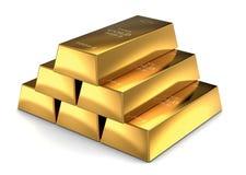 Barre di oro Fotografie Stock