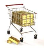 Barre di oro Immagine Stock Libera da Diritti