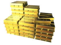 Barre di oro Fotografia Stock Libera da Diritti