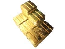 Barre di oro Fotografia Stock