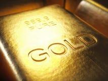 Barre di oro da 1000 grammi Fotografie Stock Libere da Diritti