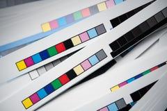 Barre di riferimento di colore Fotografie Stock Libere da Diritti
