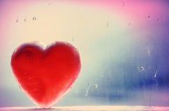 Coeur d'hiver de Croix-Processus Photographie stock libre de droits