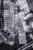 Barre et armes médiévales de boucliers Photo libre de droits