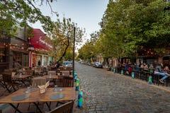 Barre et restaurants au voisinage de Bohème de Palerme Soho - Buenos Aires, Argentine images libres de droits