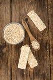 Barre fatte fresche della quinoa Fotografia Stock Libera da Diritti