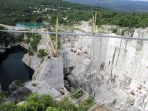 Barre Granite Quarry Royalty Free Stock Image