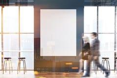 Barre grise avec une grande affiche modifiée la tonalité Images stock