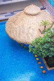 Barre impressionnante dans la piscine Photos stock