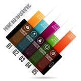 Barre Infographic de téléphone Images stock