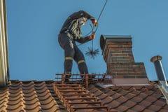 Barre la chimenea Imagen de archivo libre de regalías