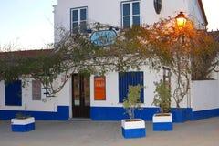 Barre la escena de la noche del menú, Vila Nova de Milfontes, Portugal Fotografía de archivo libre de regalías