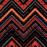 Barre le modèle sans couture tribal lumineux avec le zigzag Photos libres de droits