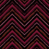 Barre le modèle sans couture tribal lumineux avec le zigzag Photos stock