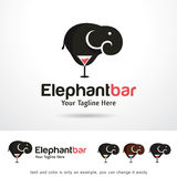 Barre Logo Template Design Vector d'éléphant Images libres de droits