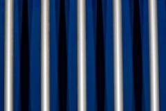 Barre metalliche della gabbia Fotografia Stock