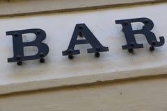 Barre à Prague Photographie stock