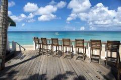 Barre sur la plage Photos libres de droits
