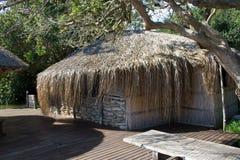 Barre traditionnelle au bord de lac en Mozambique Image libre de droits