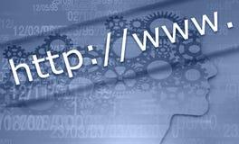 Barre virtuelle de recherche photos stock