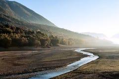 Barrea jezioro bez wody Zdjęcia Royalty Free