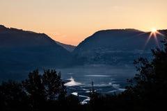 Barrea lake, Abruzzo National Park, Italy Royalty Free Stock Photo