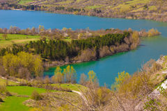 Barrea lake in the national park of Abruzzo Stock Photography