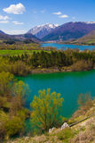 Barrea sjö i Abruzzo, Italien Royaltyfri Fotografi