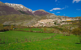 Barrea village in the italian apennines Stock Images