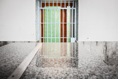 Barred and colorful  door Stock Photography