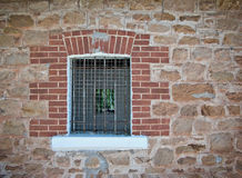 Barred jail window Stock Photo