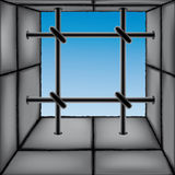 Barred window Royalty Free Stock Images