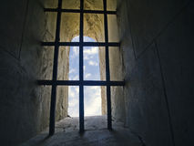 Barred window Royalty Free Stock Photos