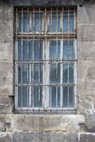 Barred Window. Close up on old barred window. Shot from Thale, Germany Royalty Free Stock Photography