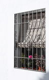 Barred Window and Blind ( Spain ) Stock Image
