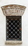 Barred window. In Cambrils, Catalonia, Spain Royalty Free Stock Photography