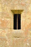 Barred Window in Chateau Beaufort. This is an image of a window in the wall of Chateau Beaufort in Luxembourg Royalty Free Stock Images