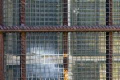 Barred window Stock Photography