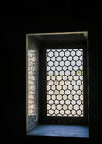 Barred window in harem, Istanbul Stock Photos