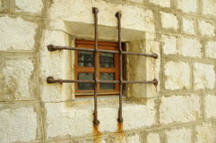Barred window Stock Photos