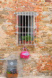 Barred window Royalty Free Stock Image