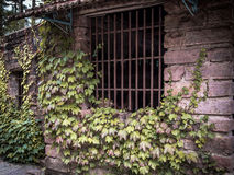 Barred window Royalty Free Stock Photo