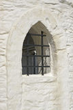 Barred window to Huer's Hut, Newquay, Cornwall, UK Stock Photography