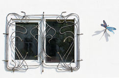 The barred window Stock Image
