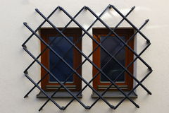 Barred windows Stock Photography